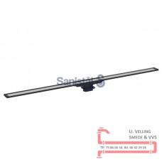Afløbsrende 30- 90cm mørk/børstet