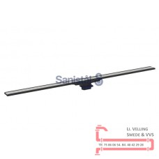 Afløbsrende 30-130cm mørk/børstet