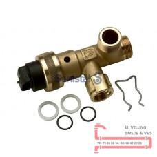 3-vejs ventil komplet